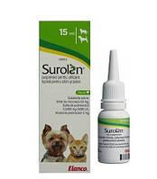 """Капли ушные для лечения отитов для собак и кошек""""Surolan"""" 15 мл Novartis™"""