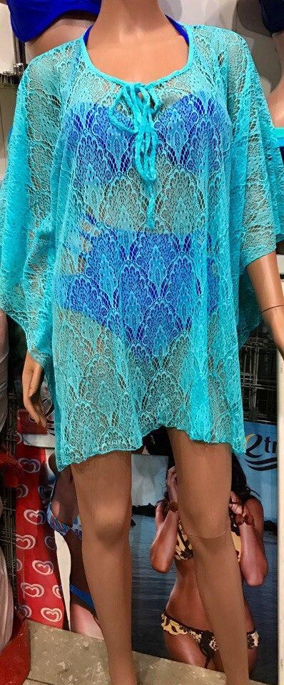 Пляжное стильная  платье-туника РАЗНЫЕ ЦВЕТА Фабричный Китай