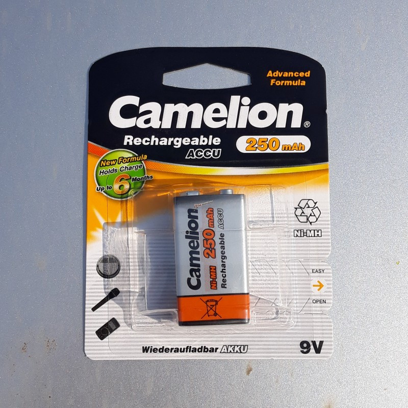 Аккумулятор 9v 250mah Camelion ni-mh