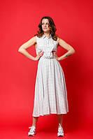 """Женское платье-сарафан с кофтой """"Янь-Инь"""", код К-007, бело-черное"""