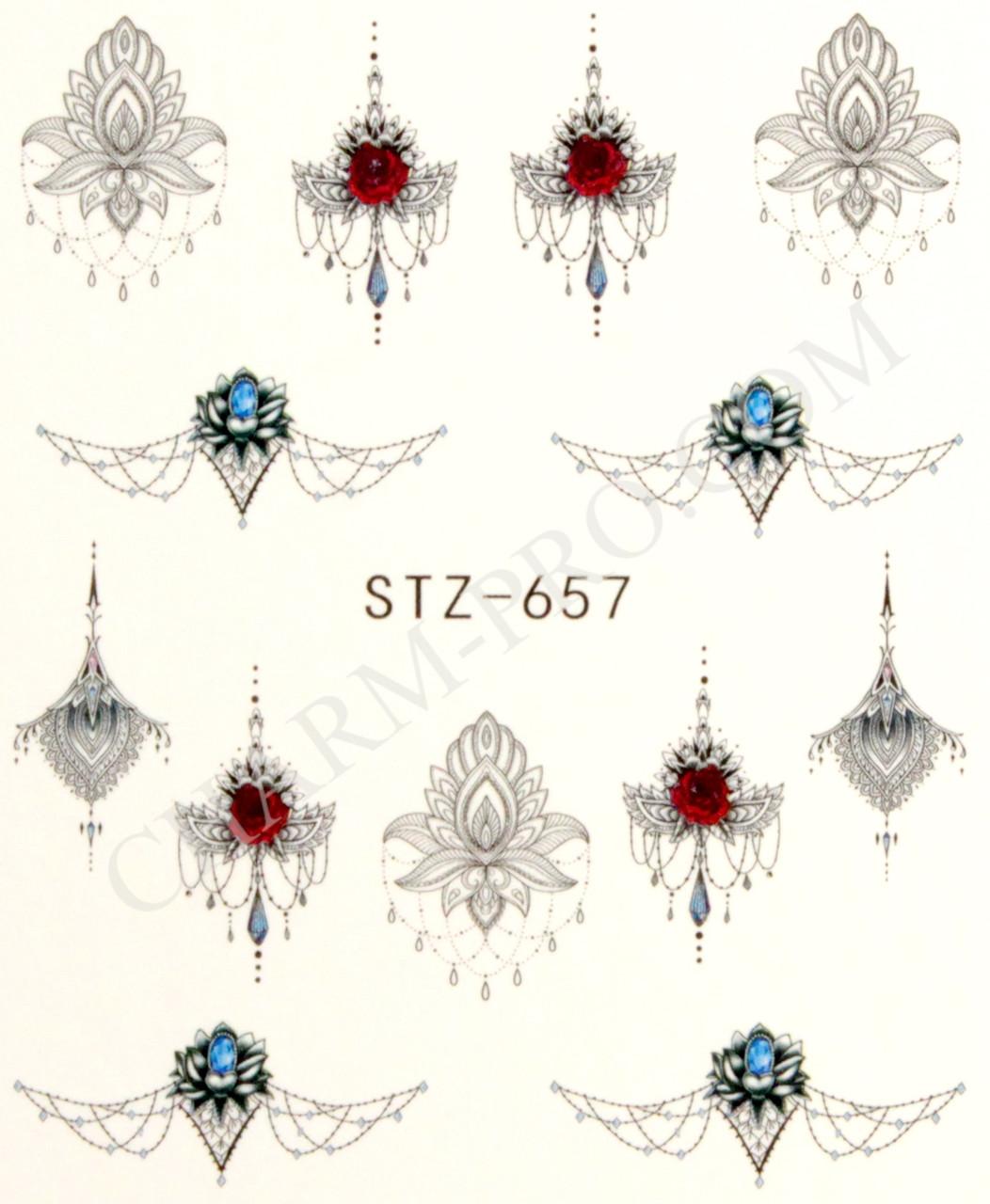 Водные наклейки драгоценности STZ-657