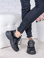 Кроссовки кожа в стиле Balenc!aga черные 6996-28, фото 1