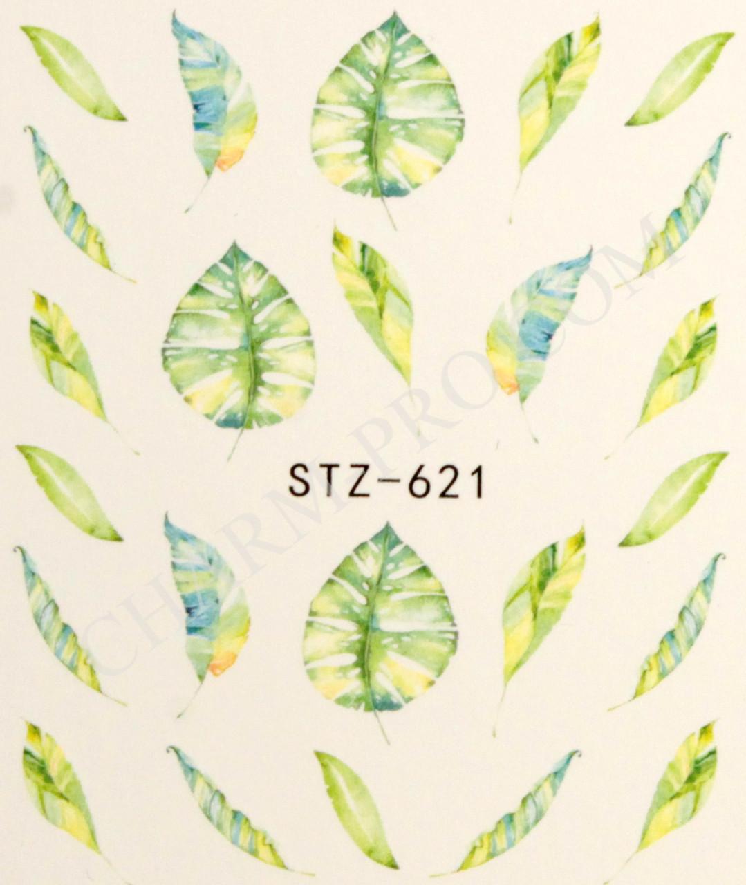 Водные наклейки листья STZ-621
