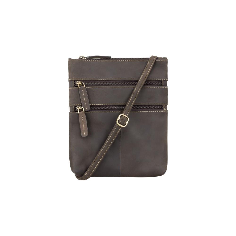 Тонкая кожаная сумка Visconti 18606 oil brown (Великобритания)