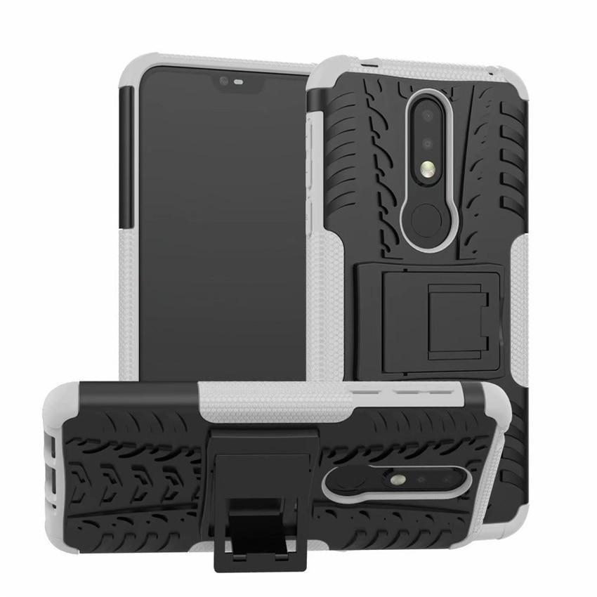 Чохол для Nokia 3.1 Plus / TA-1104 захисний бампер з підставкою білий