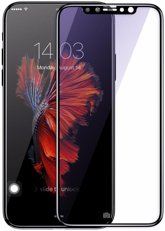 Защитное стекло Baseus 0.2 мм silk-screen tempered glass anti-blue light for iPhone X/XS Max
