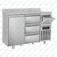 Стол холодильный барный GGM Gastro BGKF156A#SBGKF13