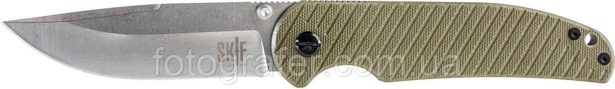 Нож складной серый SKIF Assistant 732E ( G-10 зелёный )