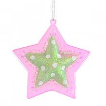 Звезда новогодняя d-10 см.