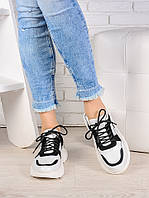 Кроссовки кожа в стиле Balenc!aga бело-черные 6993-28, фото 1