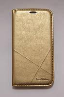 Чехол-книжка для смартфона Samsung Galaxy J5 2015 J500 золотой