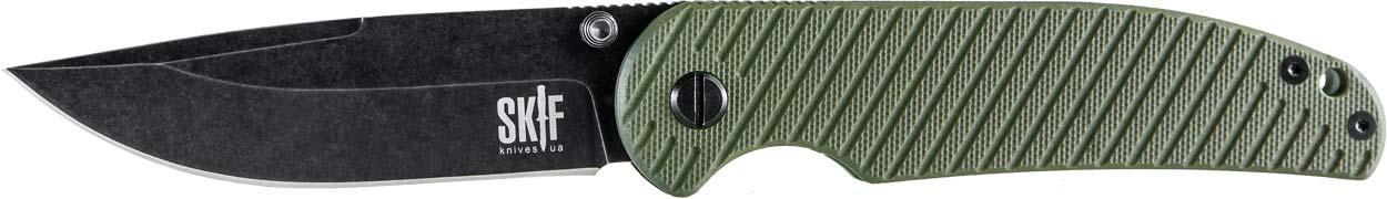 Нож складной чёрный SKIF Assistant 732F ( G-10 зелёный )