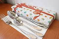 Подарочный свадебный набор красивой посуды с поздравлением