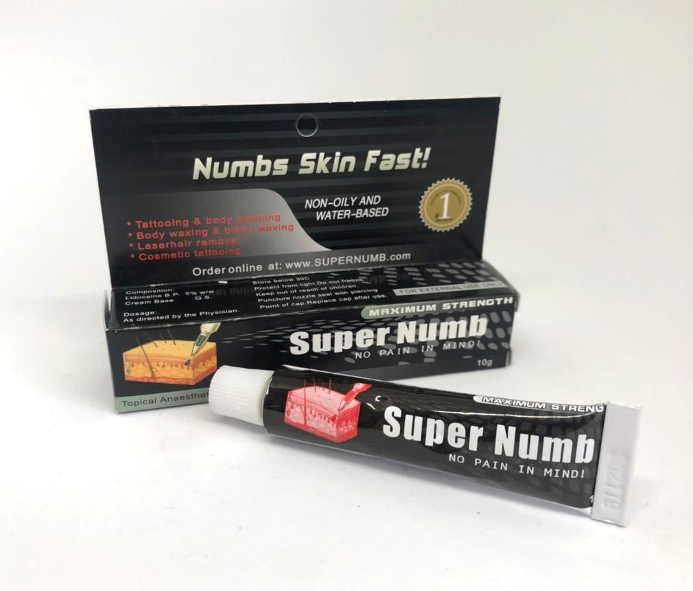 Анестетик Super Numb - обезболивающий крем (10 г)