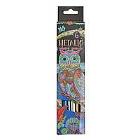 Карандаши 6 цветов, металлизированные