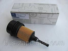 Крышка масляного фильтра (+ фильтр) на MB Sprinter/Vito CDI OM611/612/646 — Mercedes Original — 6111800210