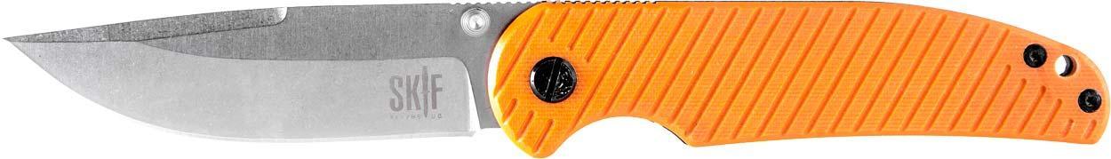 Ніж складаний сірий SKIF Assistant 732G ( G-10 оранжевий )