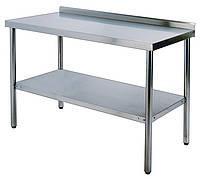 Стол производственный WG304-3072-11/2 Shinbo 750х1800мм с бортом & Столы производственные из нержавеющей стали