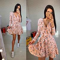 Короткое платье на запах, фото 1