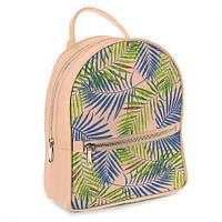 Рюкзак 3D міський кремовий Пальмові листя