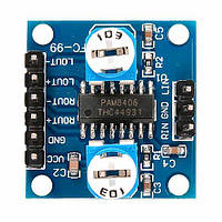 Плата звукового усилителя на основе PAM8406 2x5, 2,5B - 5В