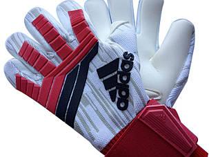 Вратарские перчатки Adidas pro 120 красно-белые, фото 2