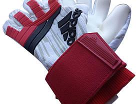 Вратарские перчатки Adidas pro 120 красно-белые, фото 3