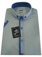 Мужская рубашка с коротким рукавом Т 12-17  500-V29+506/18-3937+9, фото 1