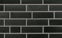 Faro плитка клинкерная черный с оттенком гладкий