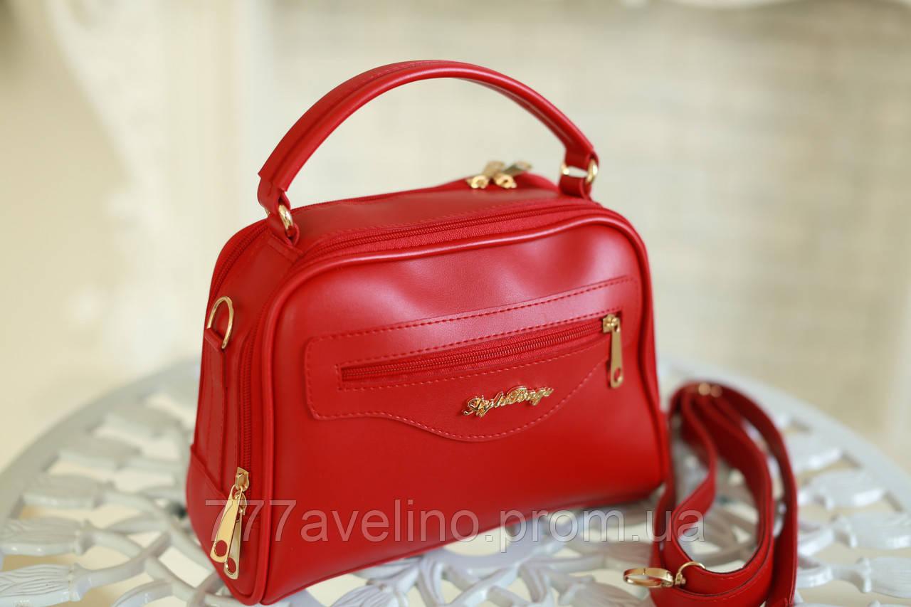 Женская сумка через плечо модная красная