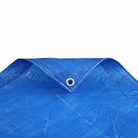 Тент полипропиленовый ( тарпаулиновый ) ламинированый с кольцами 5м*8м плотностью 65гр/м2
