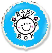 Гелієва кулька Коло Baby boy