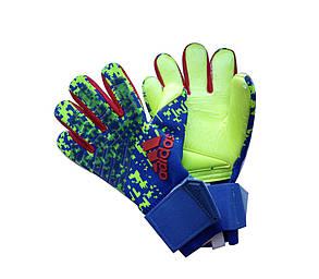 Вратарские перчатки Adidas pro 120 сине-салатовый, фото 2