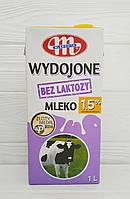 Молоко без лактози Mlekovita bez lactozy Wydojone Mleko 1,5% (Польща)