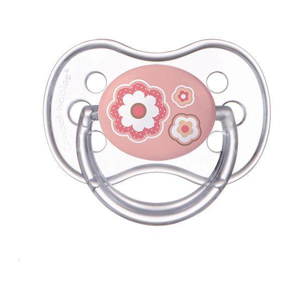 Пустышка силиконовая круглая 18+ м-ев Newborn baby