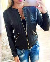 Кожаная куртка женская батал  дм1023-1, фото 1