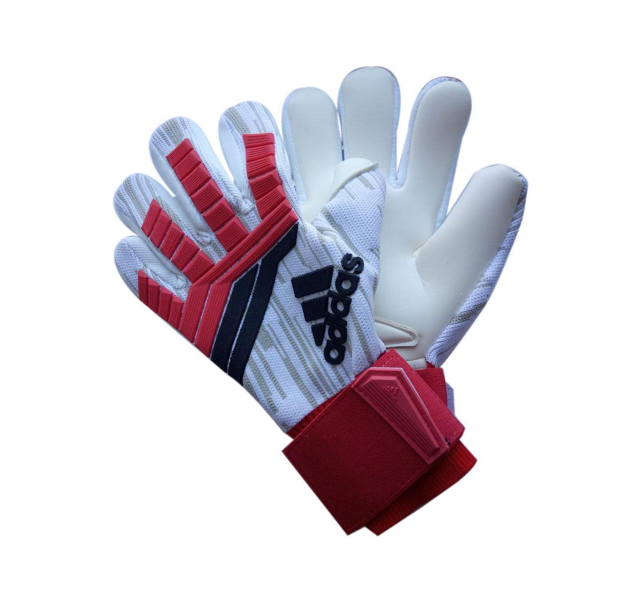 Вратарские перчатки Adidas pro 120 красно-белые