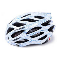 Велосипедный шлем ВШ-1000. Белый с синим (М)