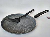 Блинница сковрода противопригарная 28 см Bohmann BH 1010-28 мраморное покрытие