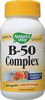 Комплекс В-50, 100 капсул (комплекс витаминов группы B (B1, B2, B3, B5, B6, B12))