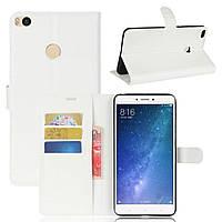 Чехол-книжка Litchie Wallet для Xiaomi Mi Max 2 Белый