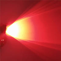 Красные врезные светодиоды (Орлиный глаз 23мм.), корпус черный - LED DRL ДХО подсветка салона
