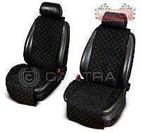 Чехлы CANTRA на передние сиденья с ушками - 2шт.✓ цвет: черный ✓ красная нить ✓ производитель CANTRA