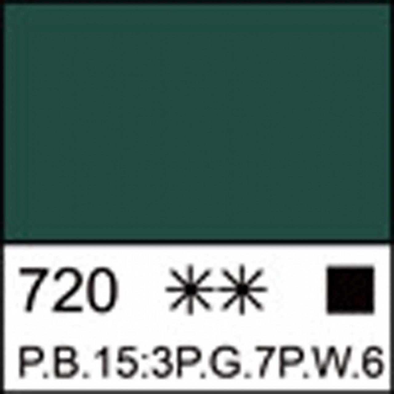Краска акриловая ЛАДОГА, изумрудная, 100мл ЗХК