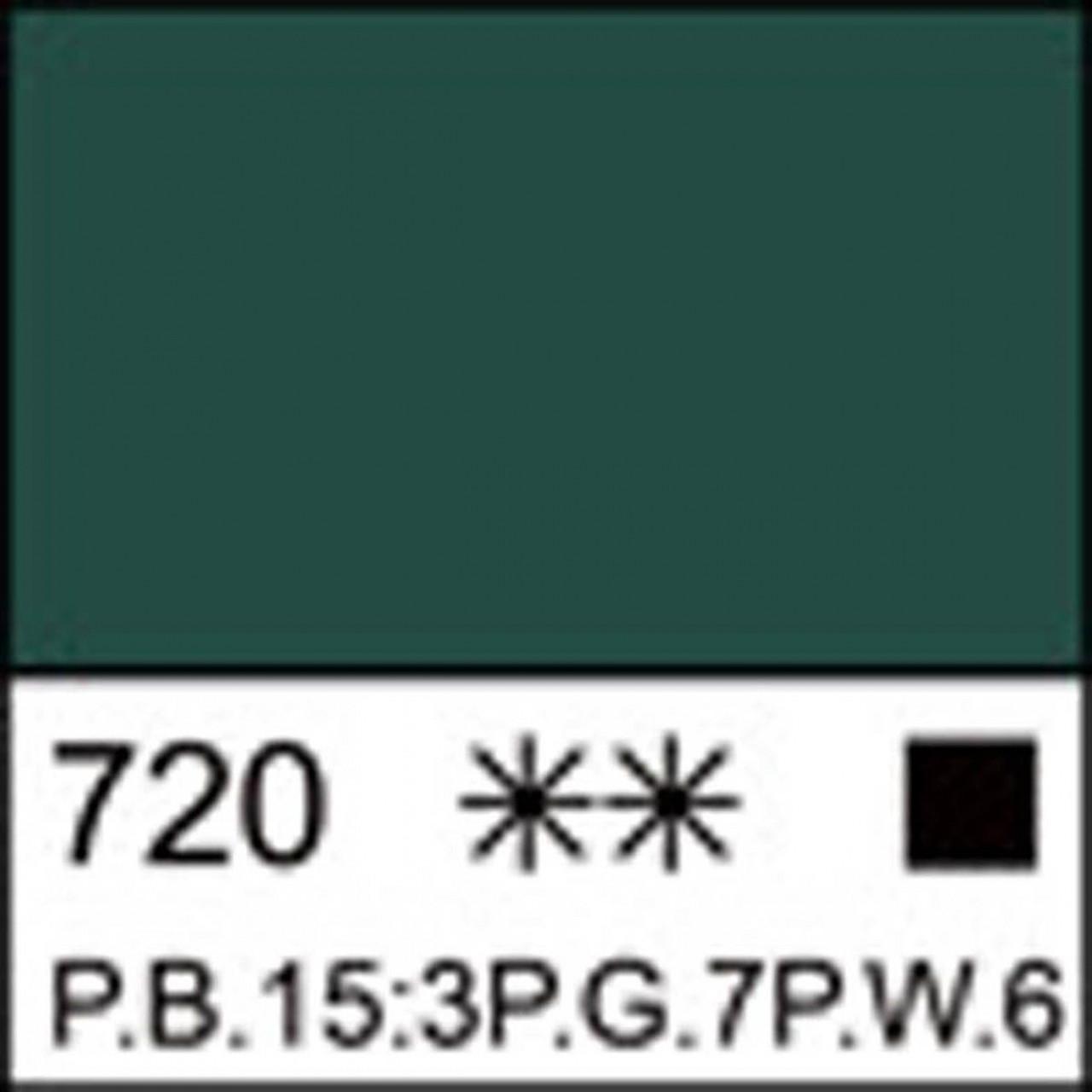 Краска акриловая ЛАДОГА, изумрудная, 220мл ЗХК
