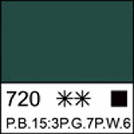 Краска акриловая ЛАДОГА, изумрудная, 220мл ЗХК, фото 2
