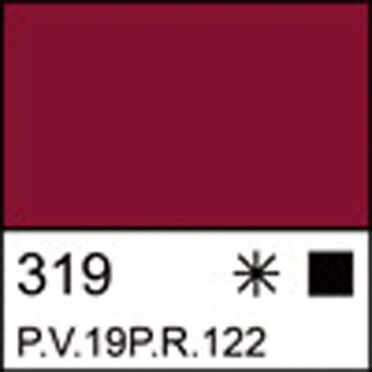 Краска акриловая ЛАДОГА, карминовая, 100мл ЗХК