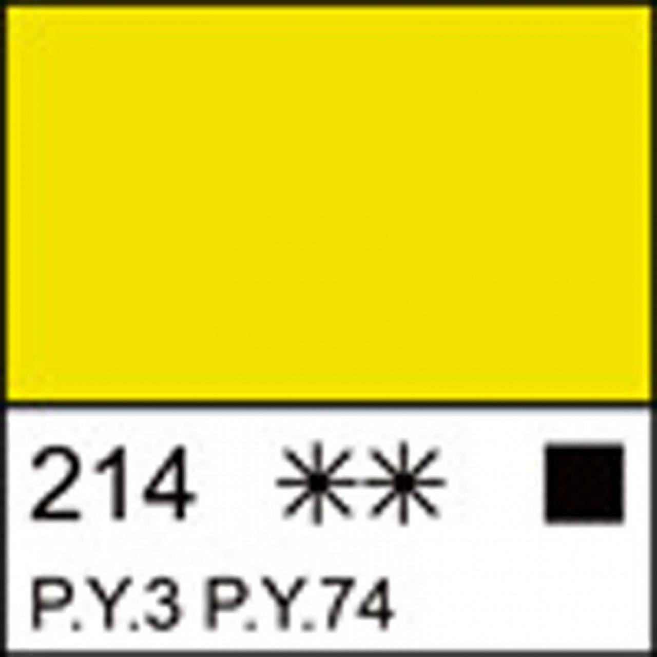 Краска акриловая ЛАДОГА, лимонная, 100мл ЗХК