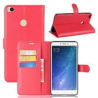 Чехол-книжка Litchie Wallet для Xiaomi Mi Max 2 Красный