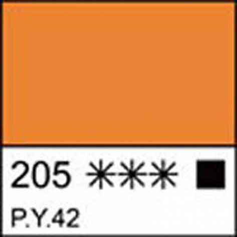 Краска акриловая ЛАДОГА, охра золотистая, 100мл ЗХК, фото 2